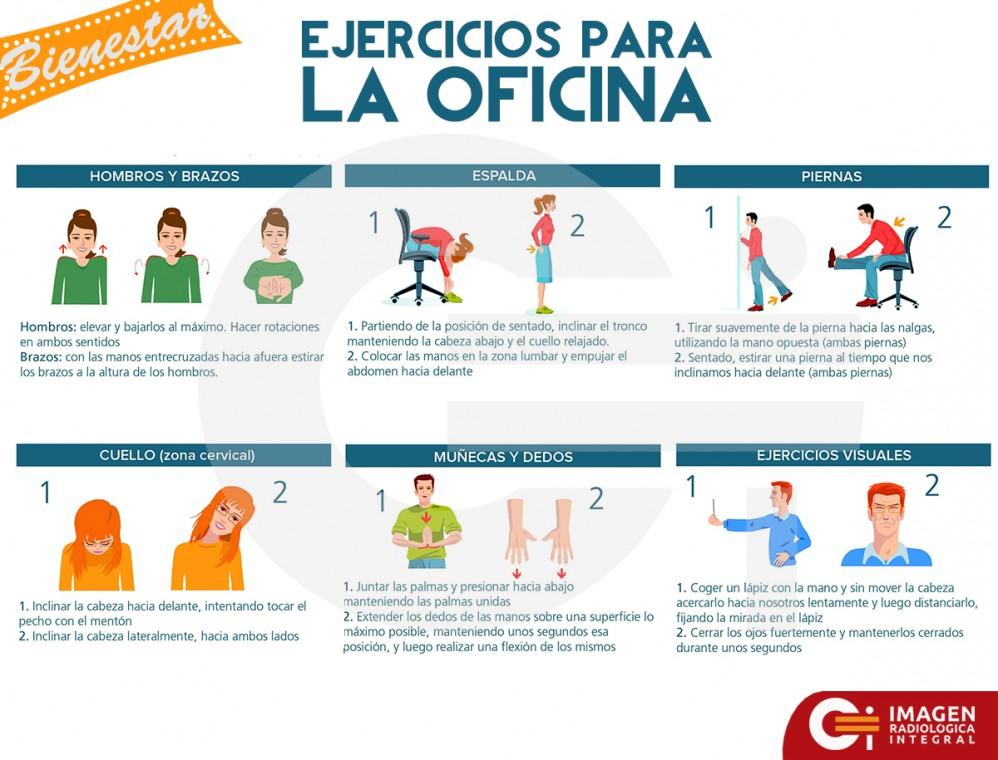 Ejercicios para la oficina: Infografía